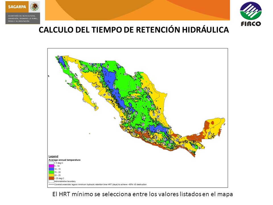 CALCULO DEL TIEMPO DE RETENCIÓN HIDRÁULICA