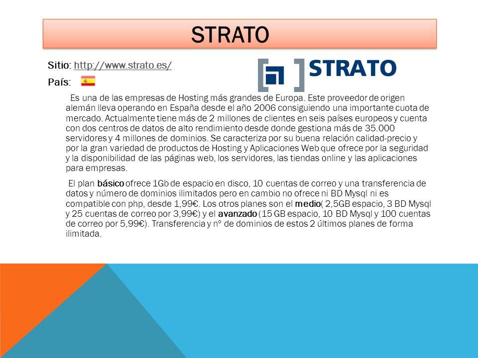 strato Sitio: http://www.strato.es/ País: