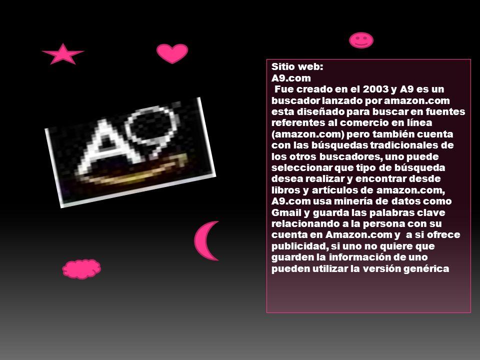 Sitio web: A9.com.