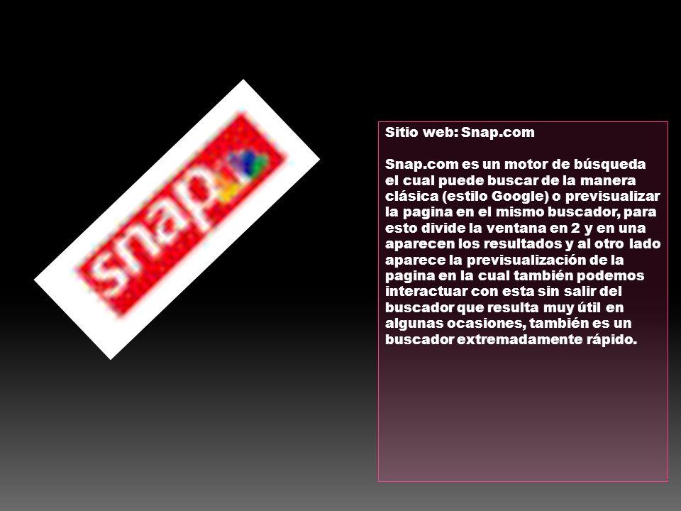 Sitio web: Snap.com