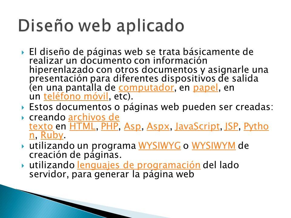Diseño web aplicado