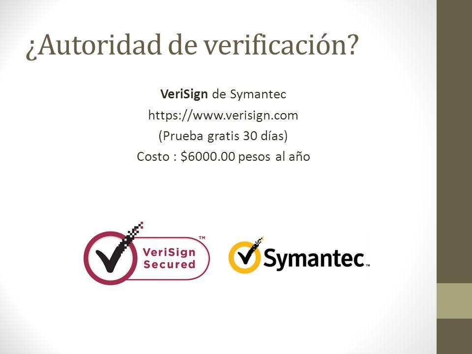 ¿Autoridad de verificación