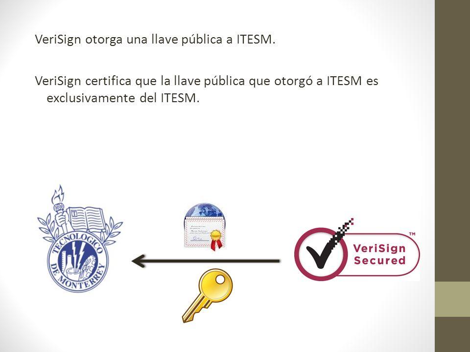 VeriSign otorga una llave pública a ITESM.