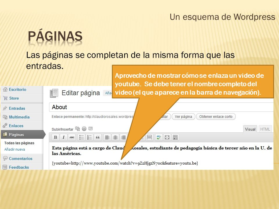 Un esquema de Wordpress