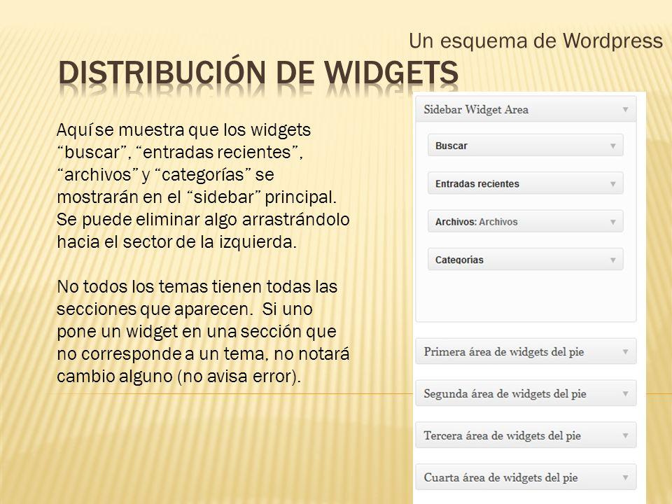 Distribución de widgets