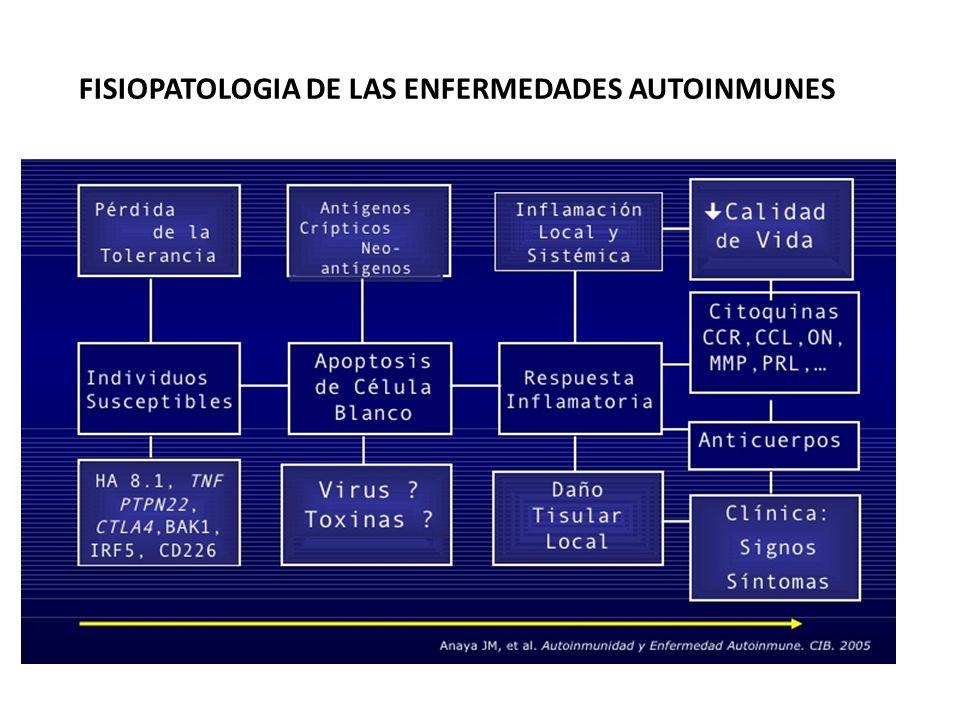 FISIOPATOLOGIA DE LAS ENFERMEDADES AUTOINMUNES