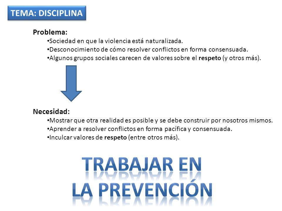 Trabajar en La prevención