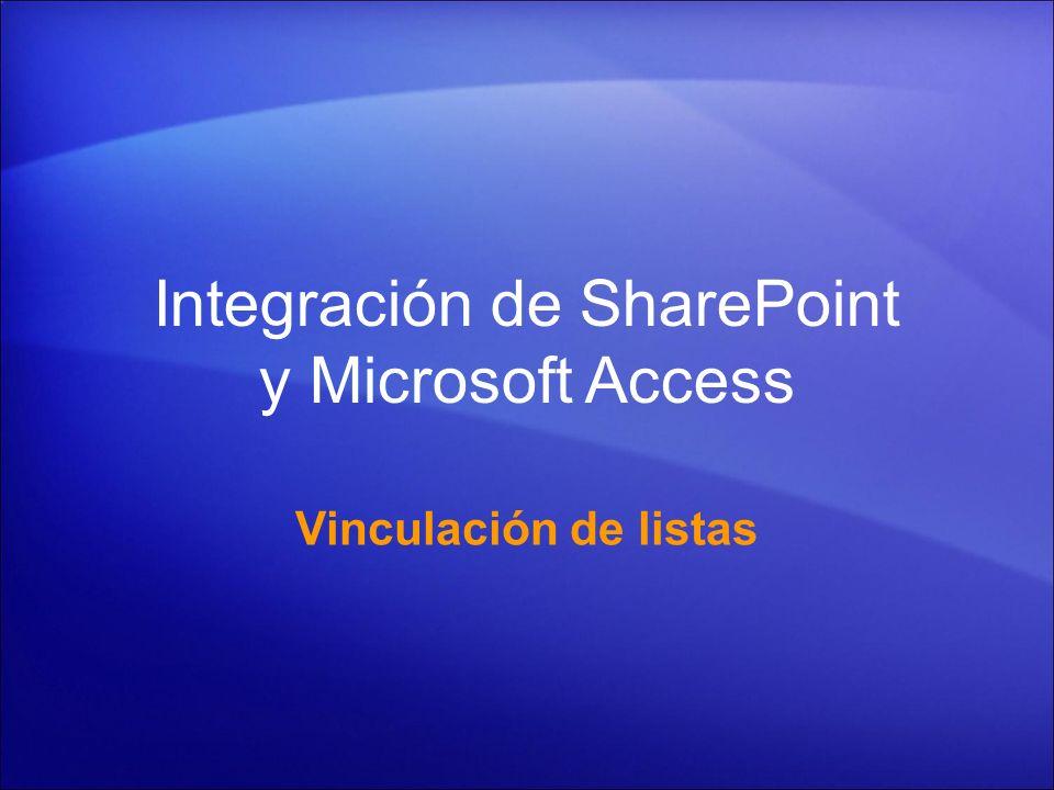 Integración de SharePoint y Microsoft Access
