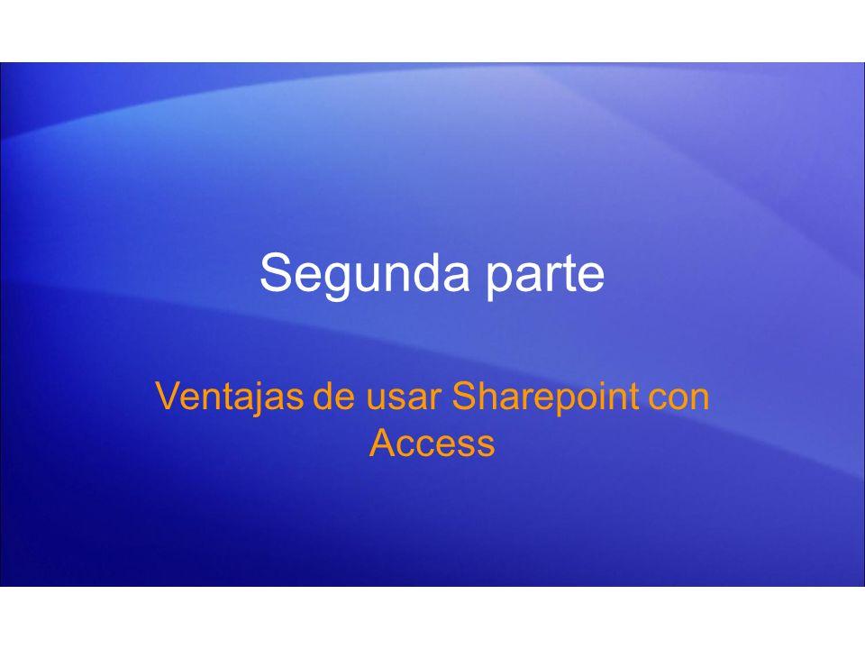 Ventajas de usar Sharepoint con Access