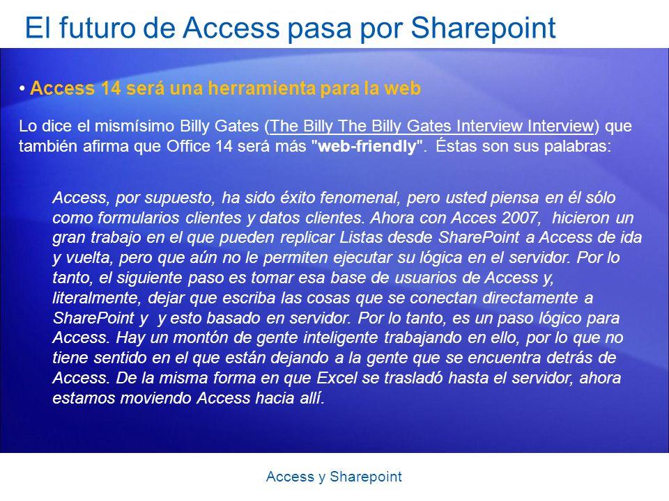 El futuro de Access pasa por Sharepoint