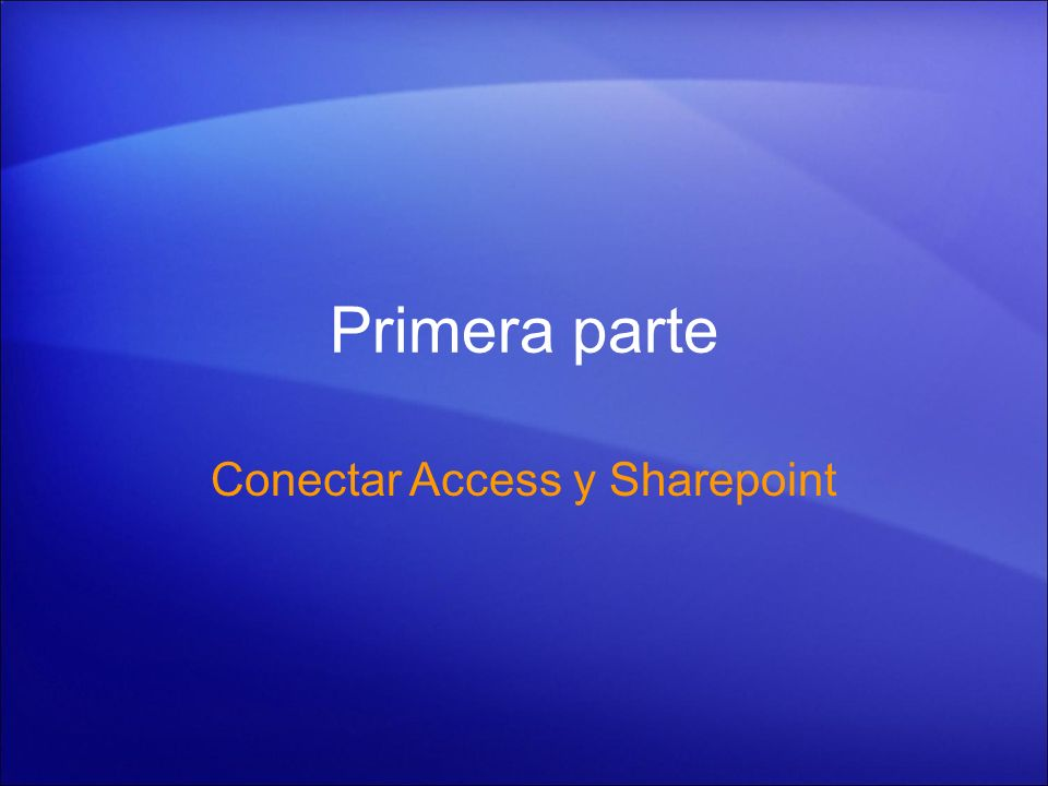 Conectar Access y Sharepoint