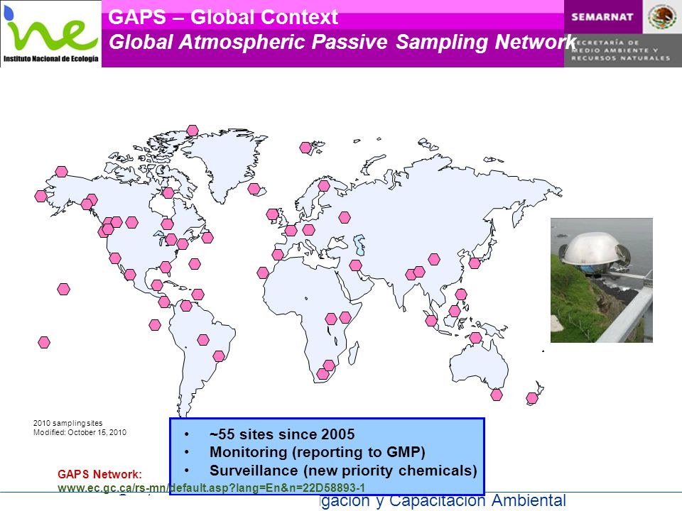 GAPS – Global Context Global Atmospheric Passive Sampling Network