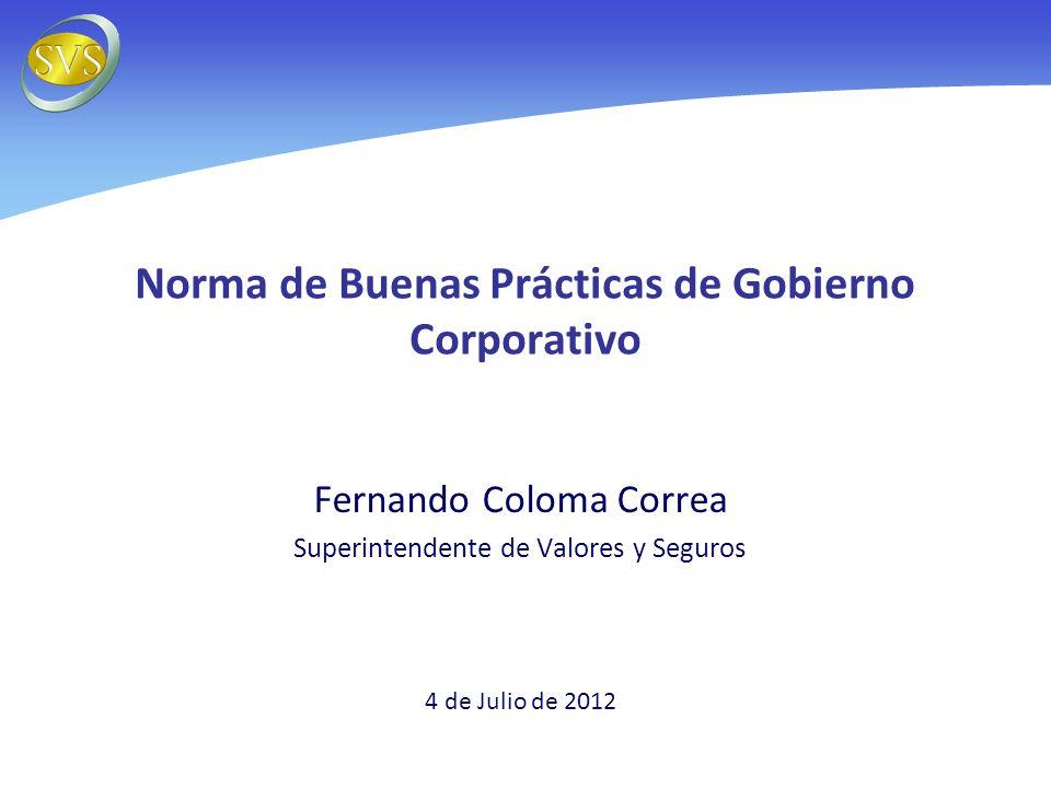 Norma de Buenas Prácticas de Gobierno Corporativo