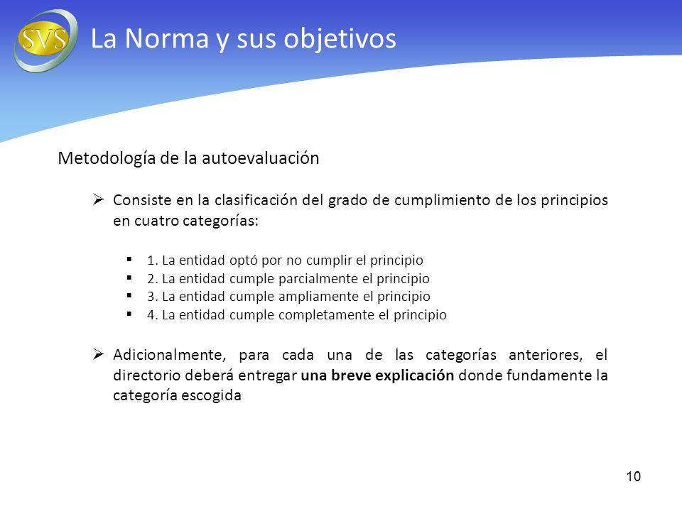 La Norma y sus objetivos