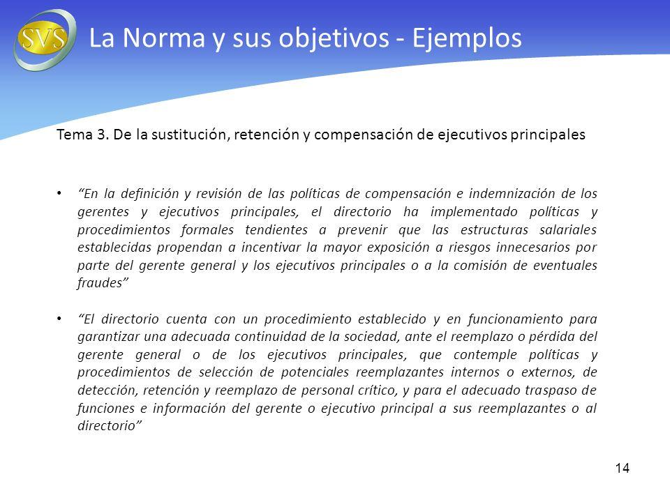 La Norma y sus objetivos - Ejemplos