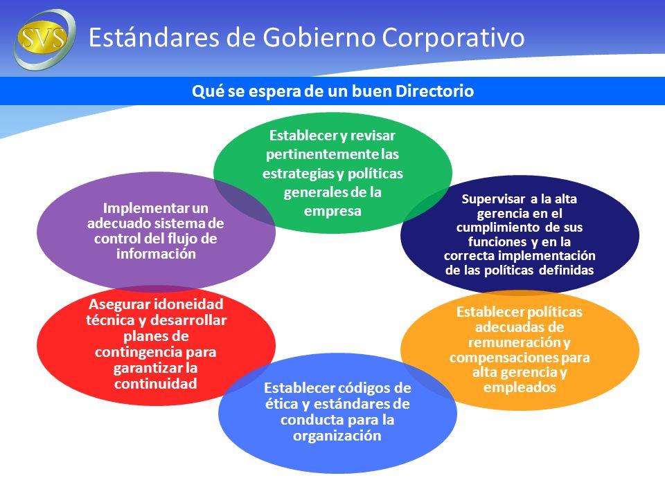 Estándares de Gobierno Corporativo