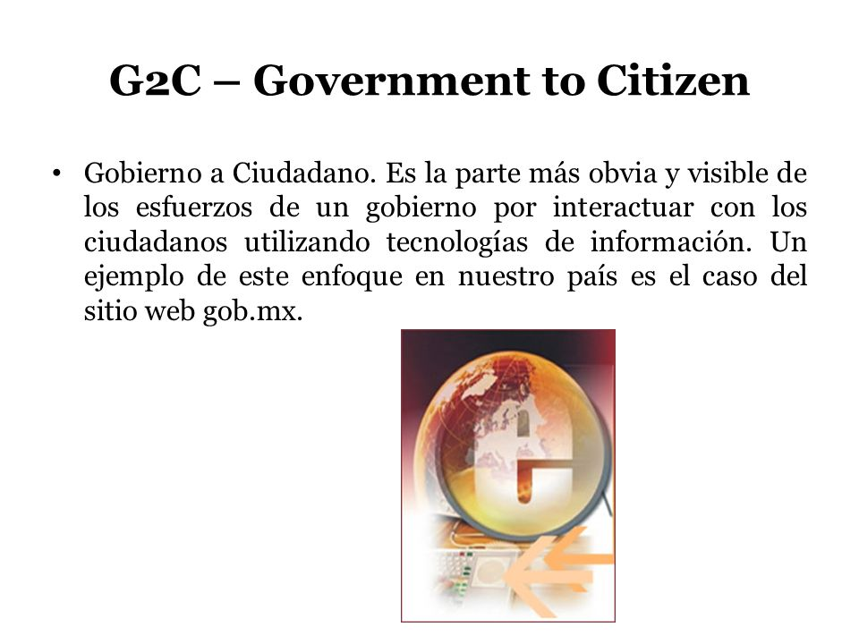 G2C – Government to Citizen