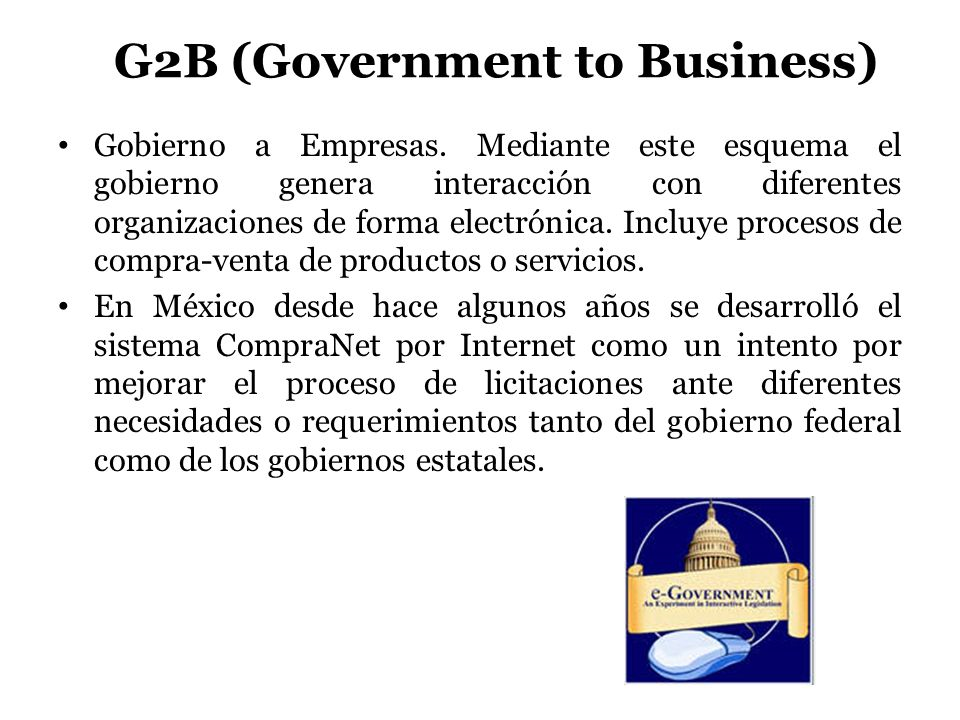 G2B (Government to Business)