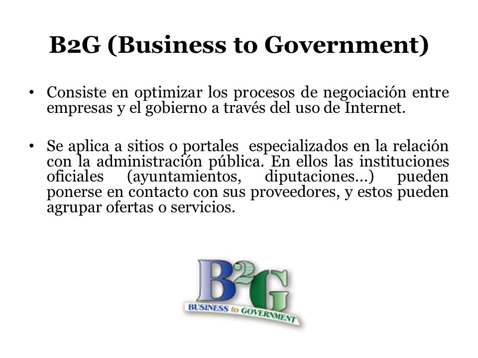 B2G (Business to Government)