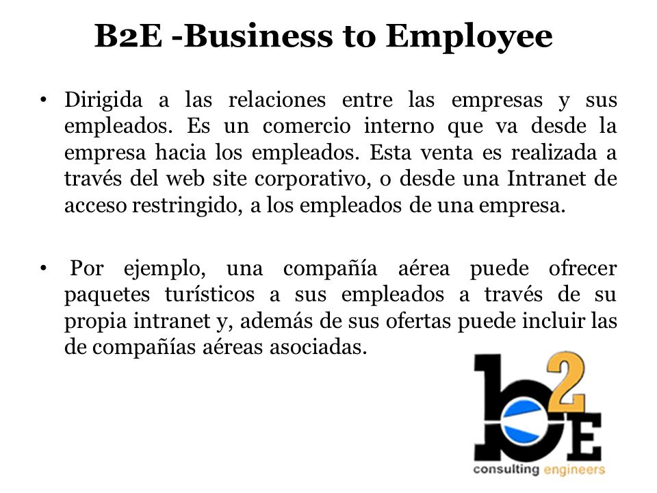 B2E -Business to Employee