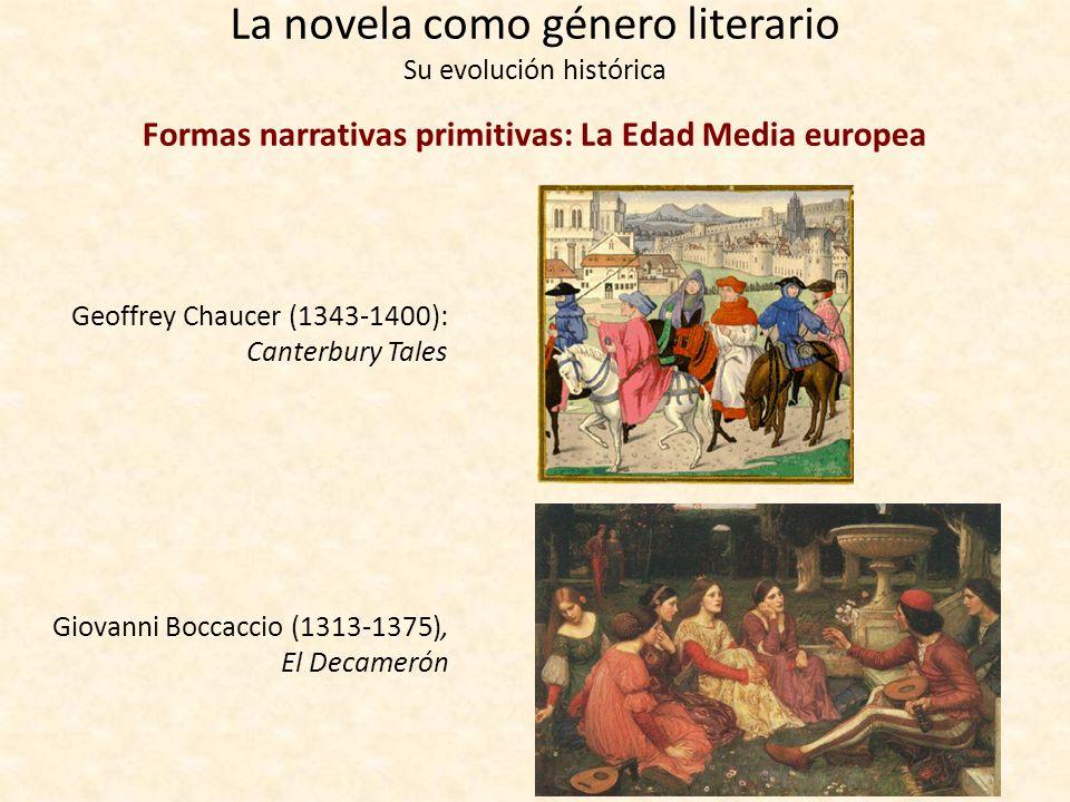 La novela como género literario Su evolución histórica