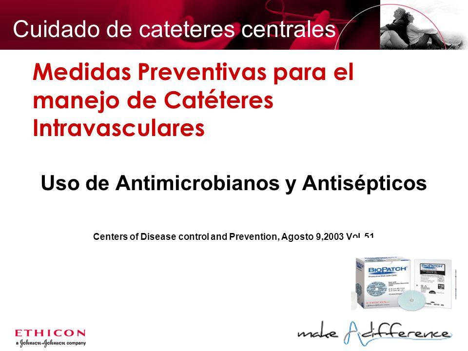 Medidas Preventivas para el manejo de Catéteres Intravasculares
