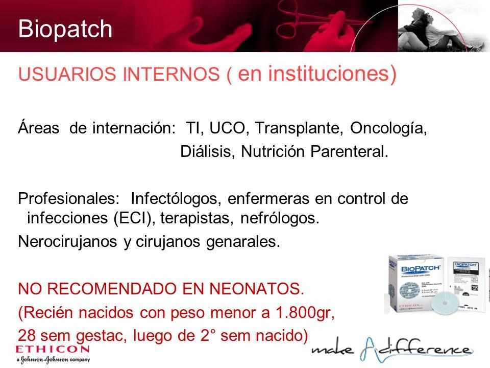 Biopatch USUARIOS INTERNOS ( en instituciones)