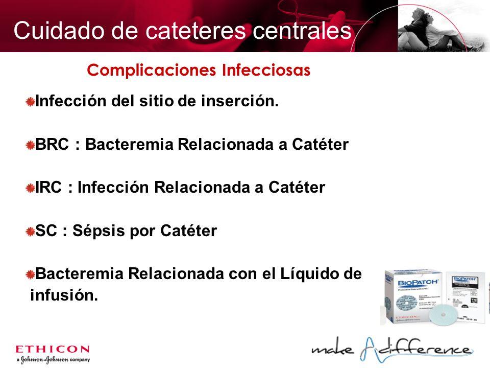 Cuidado de cateteres centrales