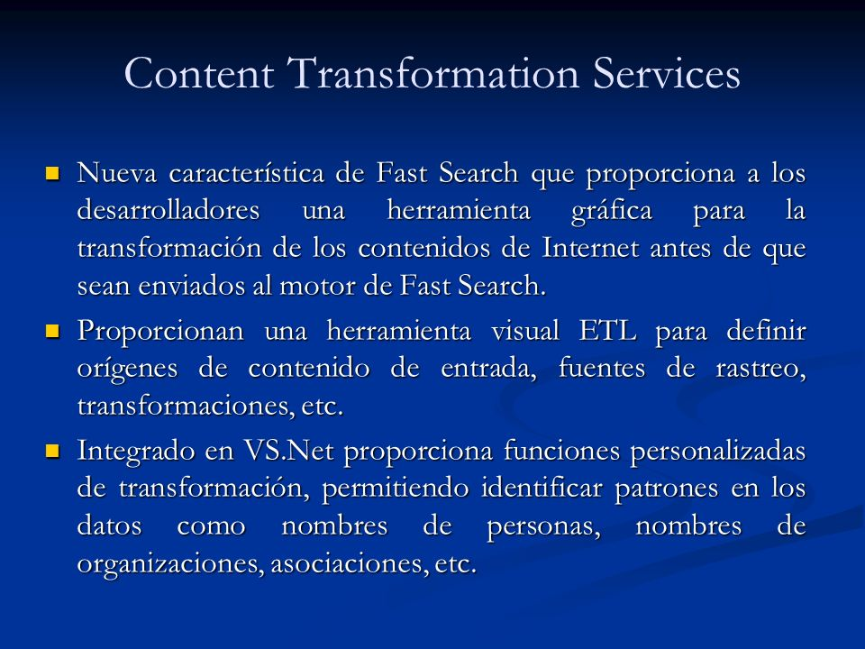 Content Transformation Services