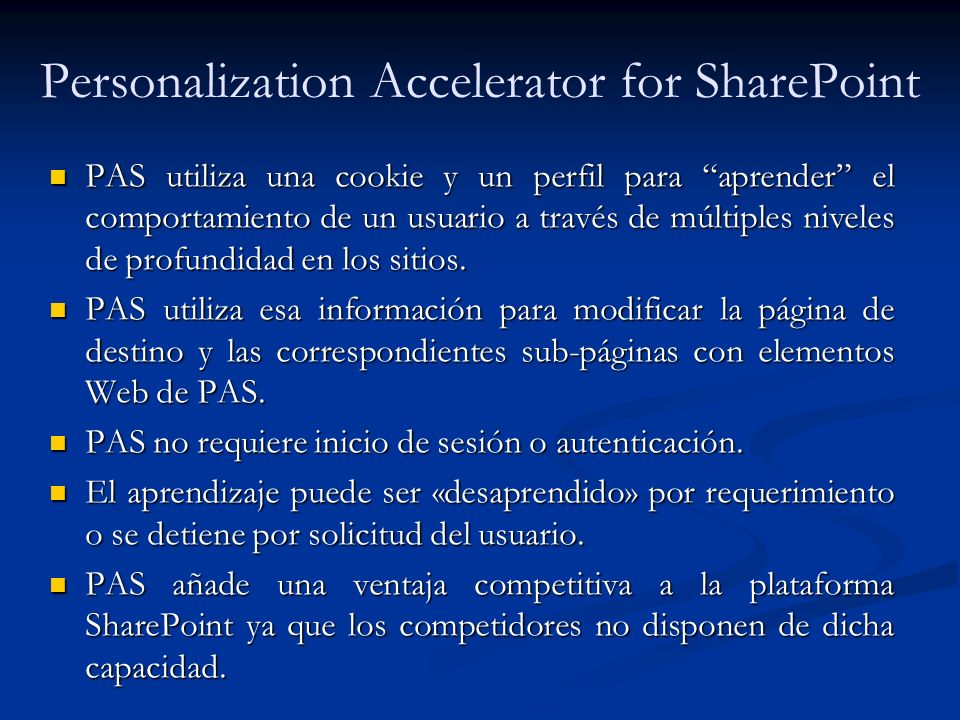 Personalization Accelerator for SharePoint