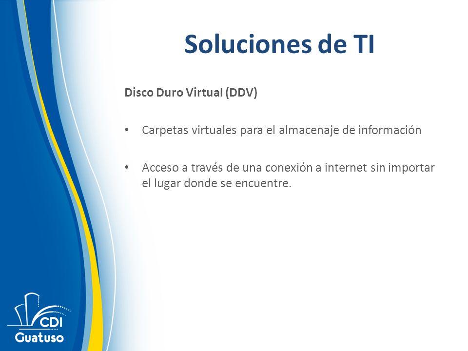 Soluciones de TI Disco Duro Virtual (DDV)