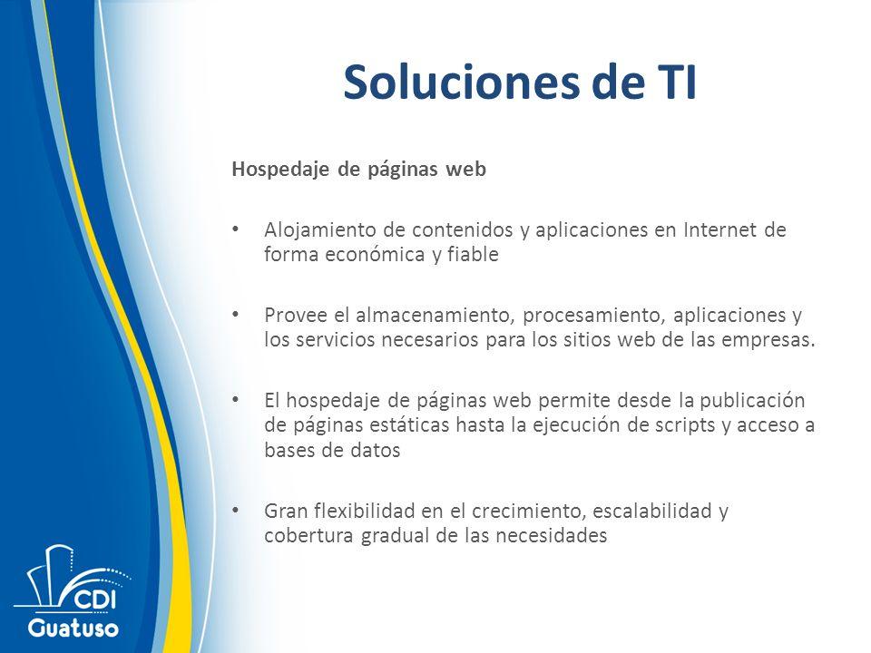 Soluciones de TI Hospedaje de páginas web