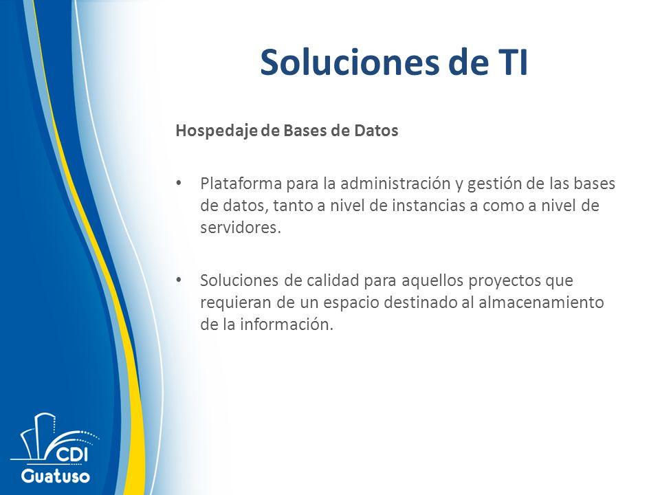 Soluciones de TI Hospedaje de Bases de Datos