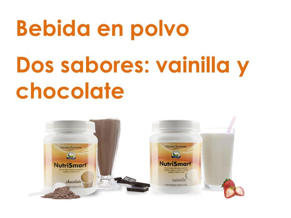Bebida en polvo Dos sabores: vainilla y chocolate