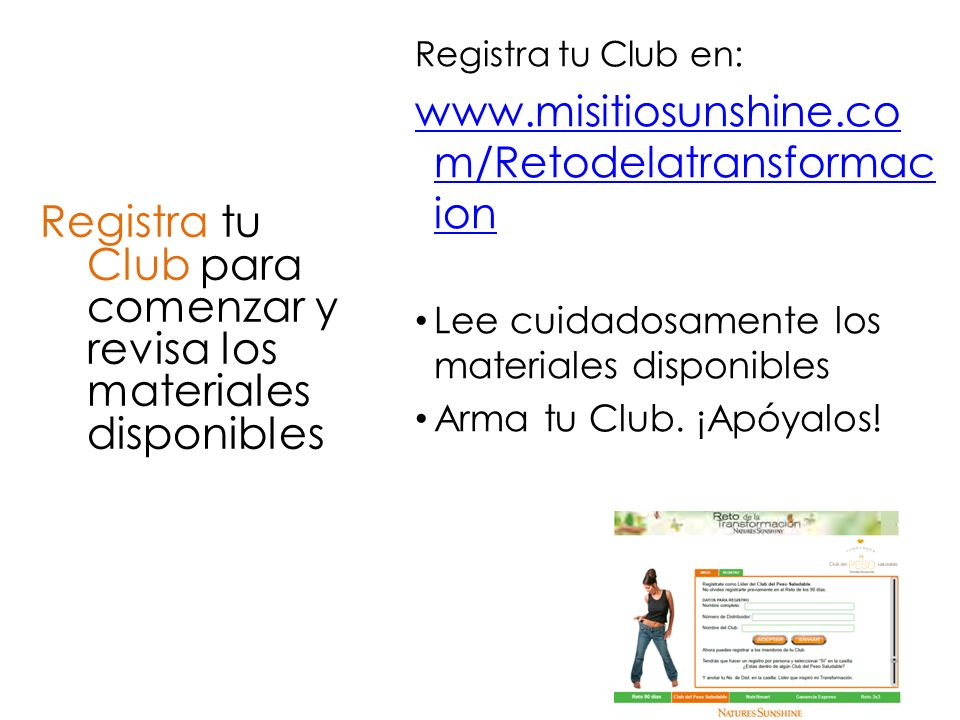 Registra tu Club para comenzar y revisa los materiales disponibles
