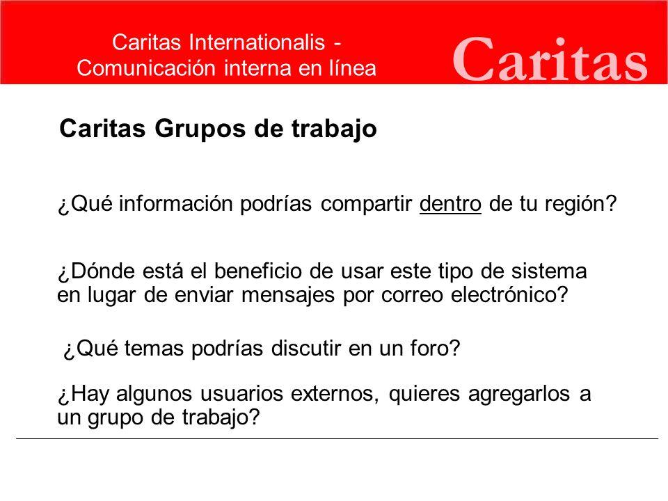 Caritas Caritas Grupos de trabajo Caritas Internationalis -