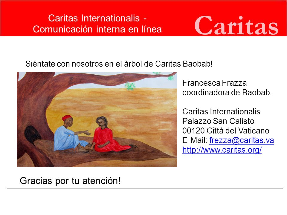 Caritas Caritas Internationalis - Comunicación interna en línea