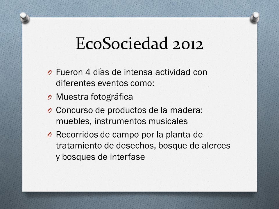 EcoSociedad 2012 Fueron 4 días de intensa actividad con diferentes eventos como: Muestra fotográfica.