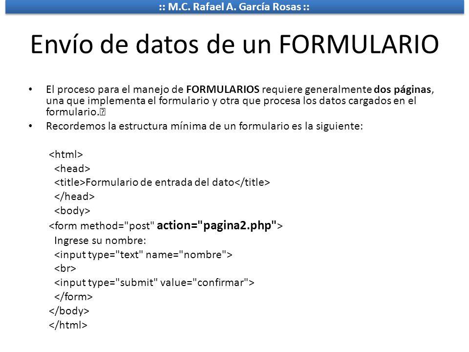 Envío de datos de un FORMULARIO