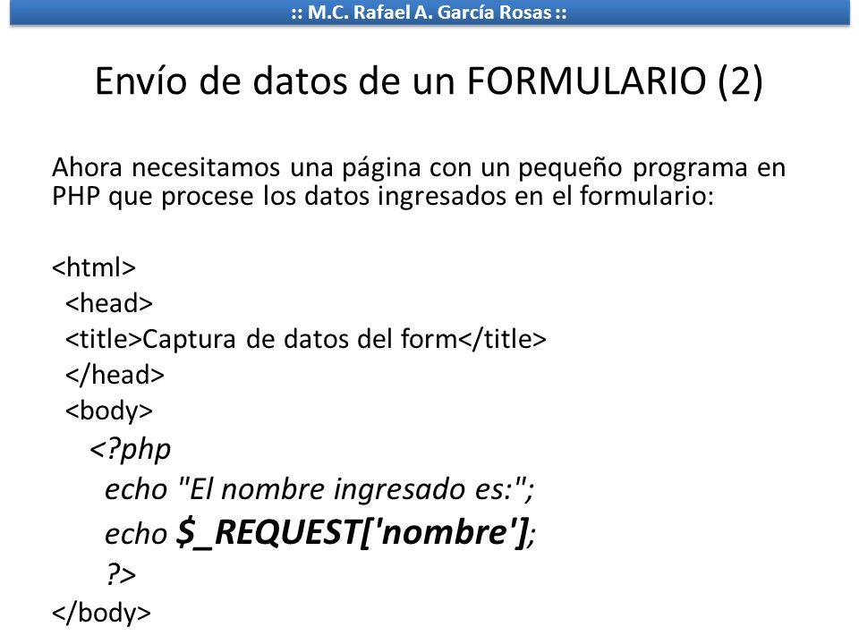 Envío de datos de un FORMULARIO (2)