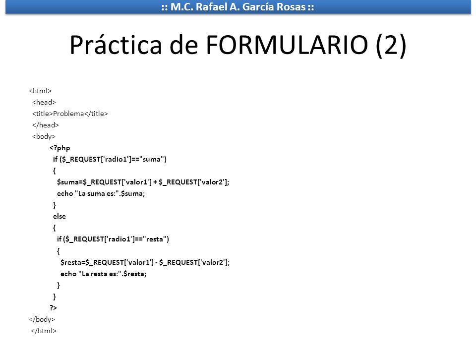 Práctica de FORMULARIO (2)
