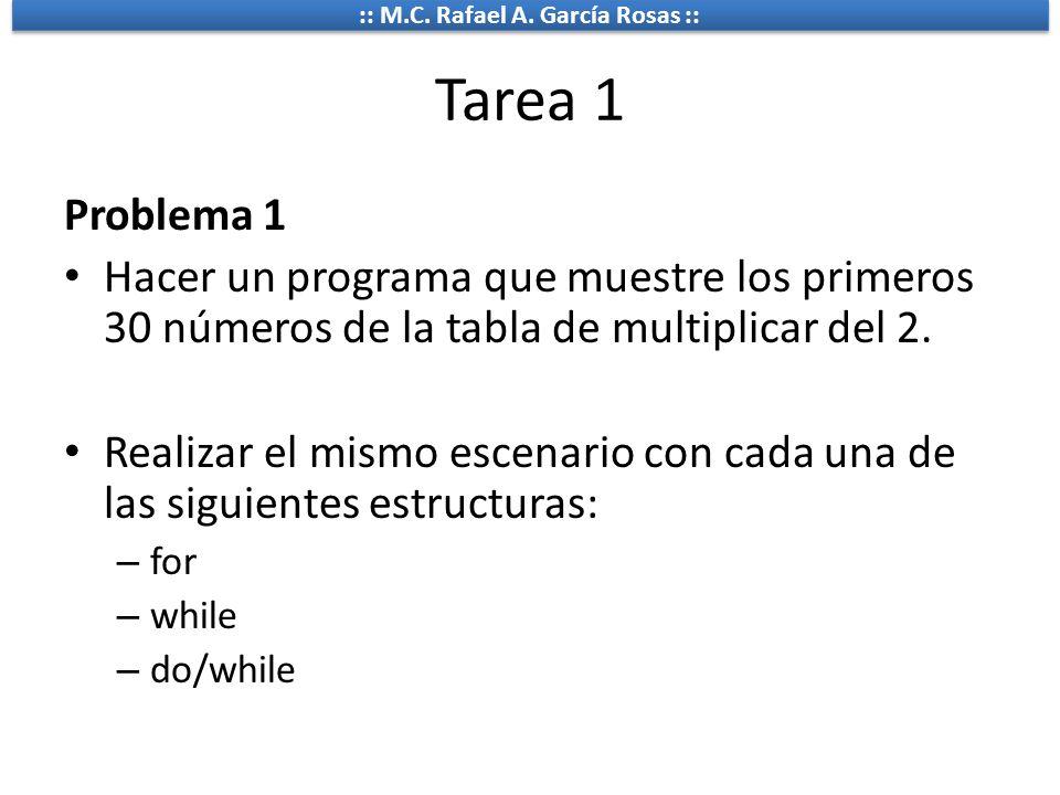 Tarea 1 Problema 1. Hacer un programa que muestre los primeros 30 números de la tabla de multiplicar del 2.