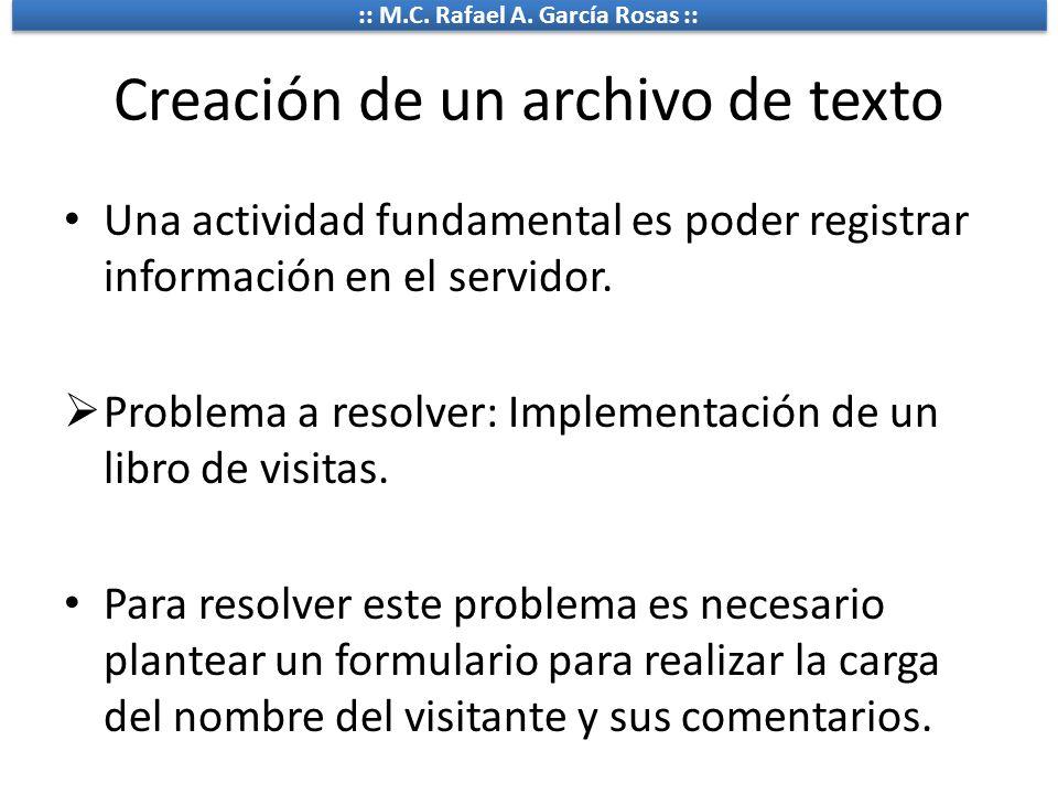 Creación de un archivo de texto