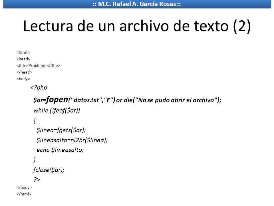 Lectura de un archivo de texto (2)