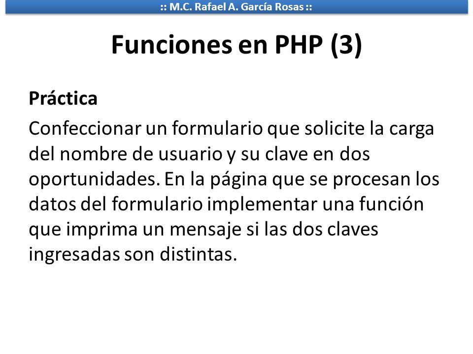 Funciones en PHP (3)