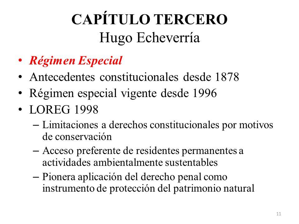 CAPÍTULO TERCERO Hugo Echeverría