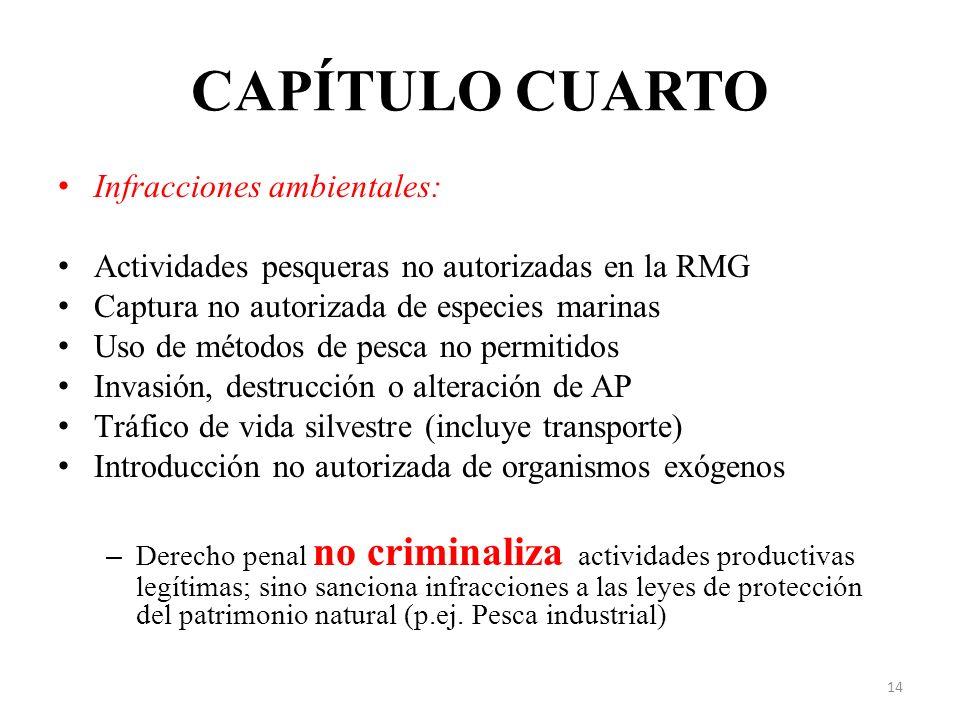 CAPÍTULO CUARTO Infracciones ambientales: