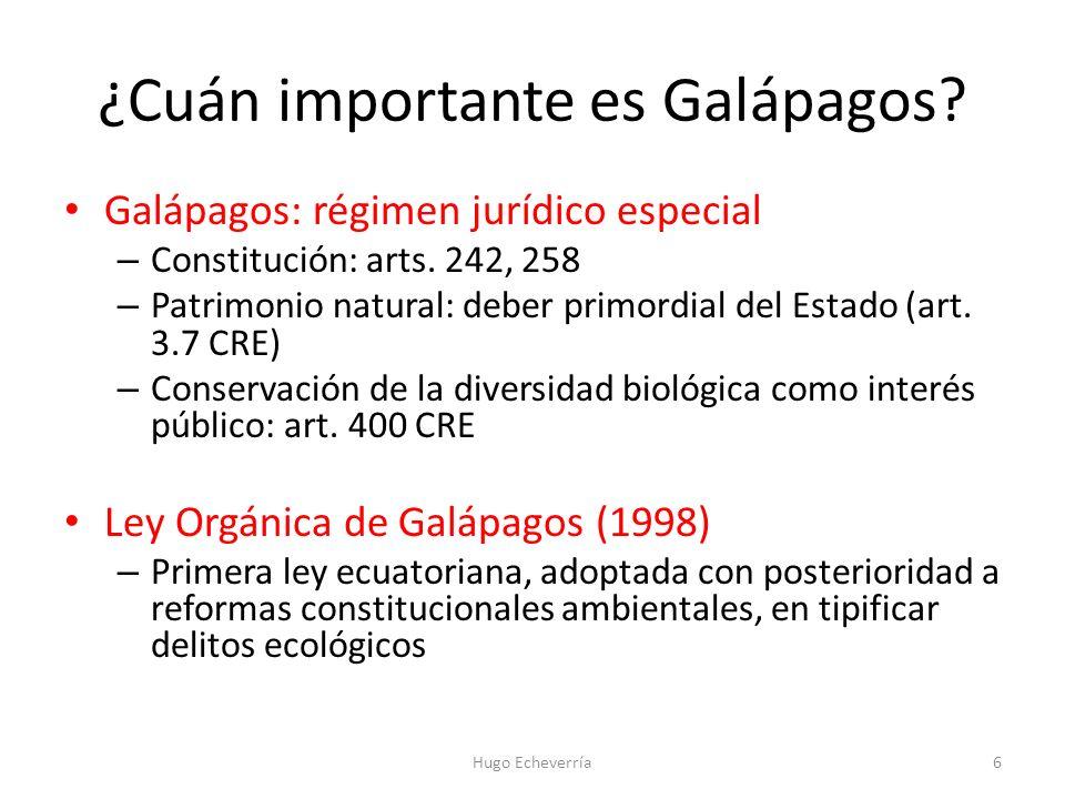 ¿Cuán importante es Galápagos
