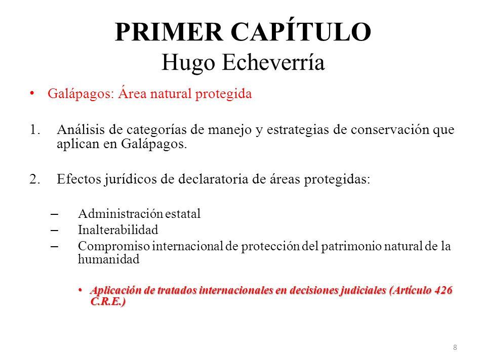 PRIMER CAPÍTULO Hugo Echeverría