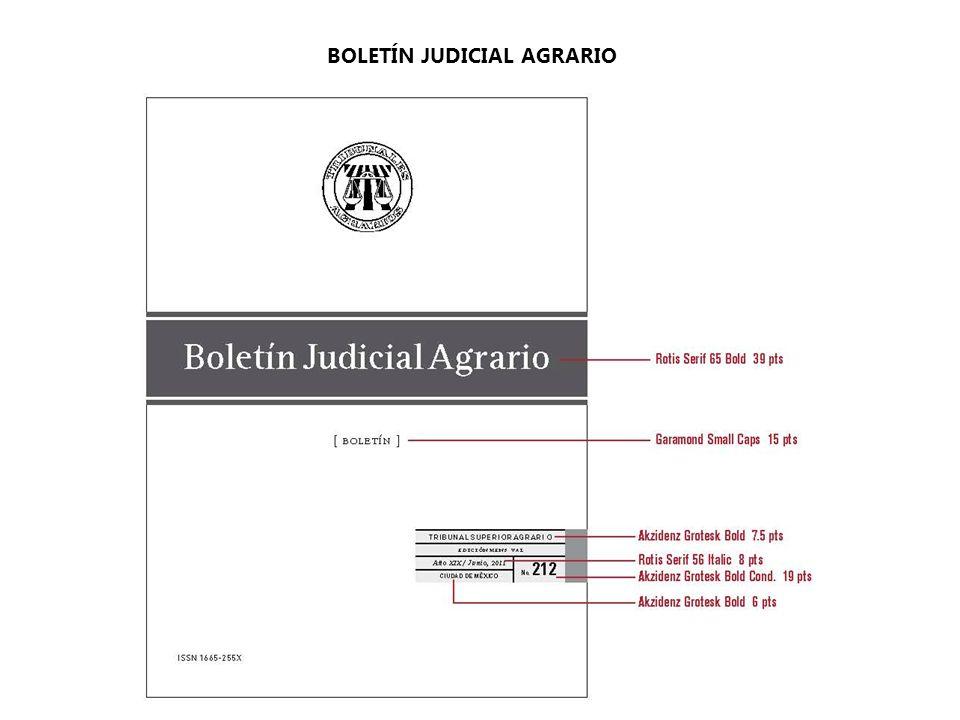 BOLETÍN JUDICIAL AGRARIO